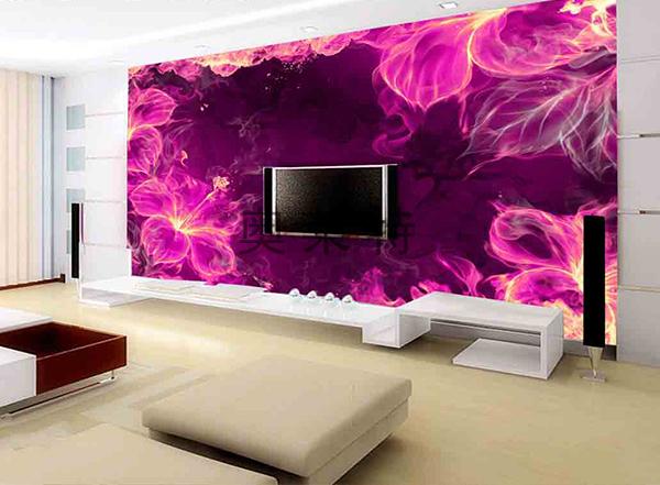 客厅电视墙壁画