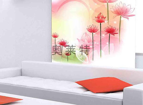 客厅花卉背景墙