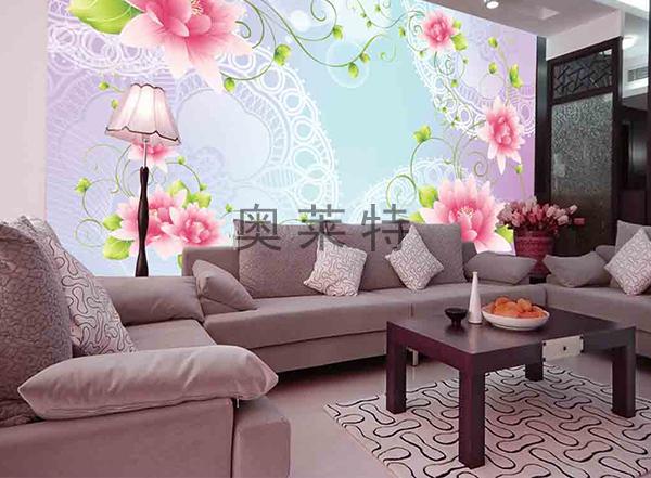 梦幻花卉壁画