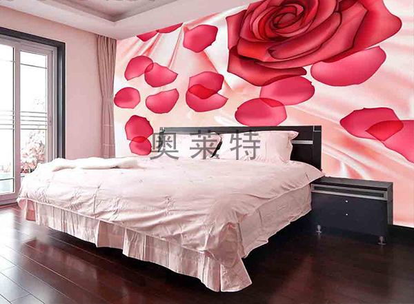 卧室花卉壁画