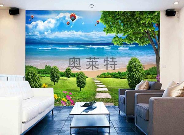 客厅风景壁画