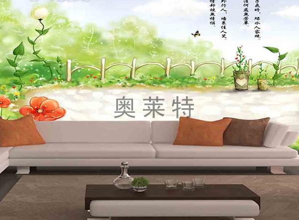 客厅背景墙壁画