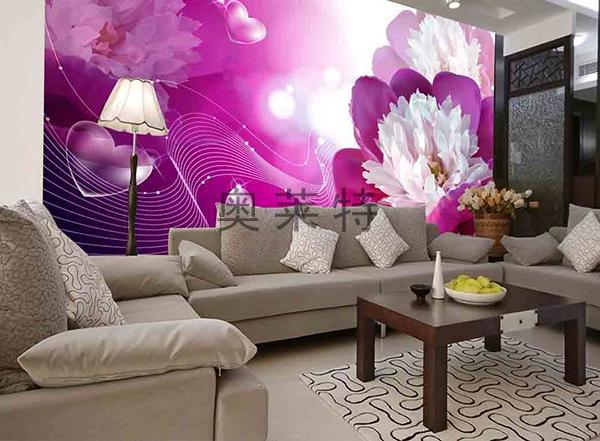 花卉背景墙装修