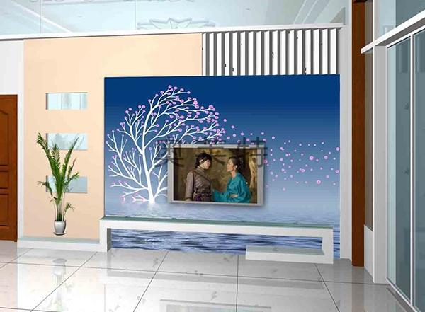 现代简约背景墙
