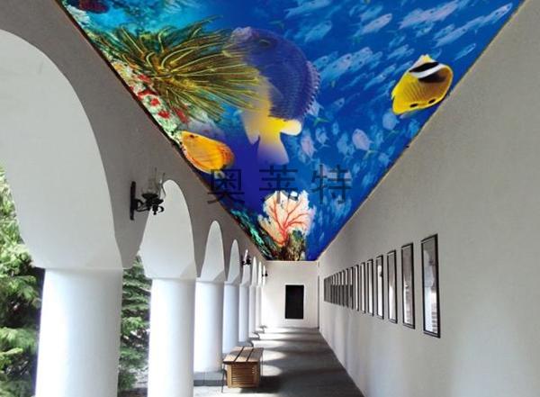 海底世界吊顶天花壁画
