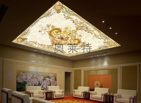 欧式花纹天顶吊顶壁画