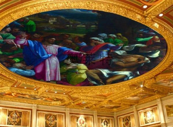 欧式吊顶人物壁画