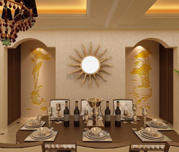 欧式餐厅背影墙