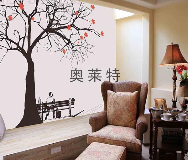 简约风格书房背景墙