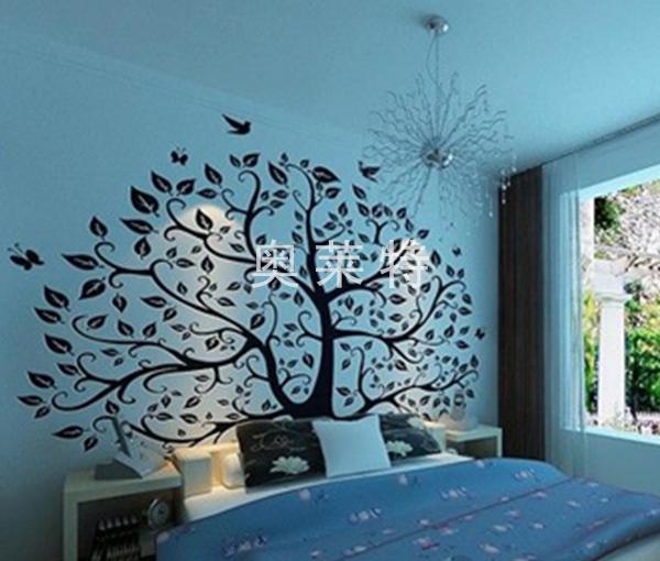 现代简约主卧室背景墙