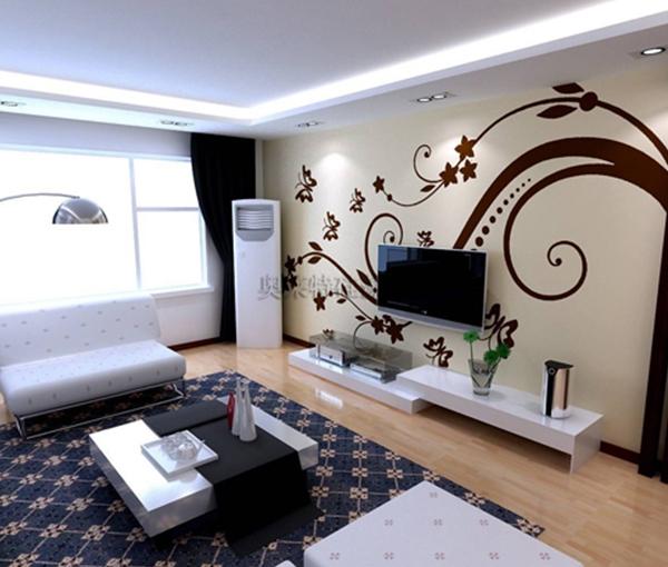 硅藻泥电视墙
