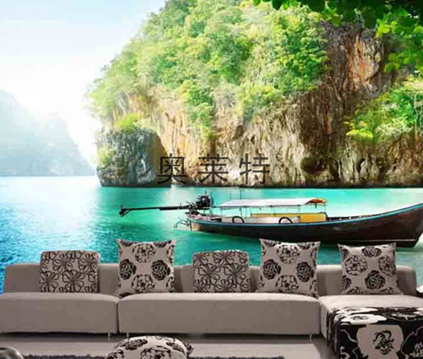山水风景壁画装修
