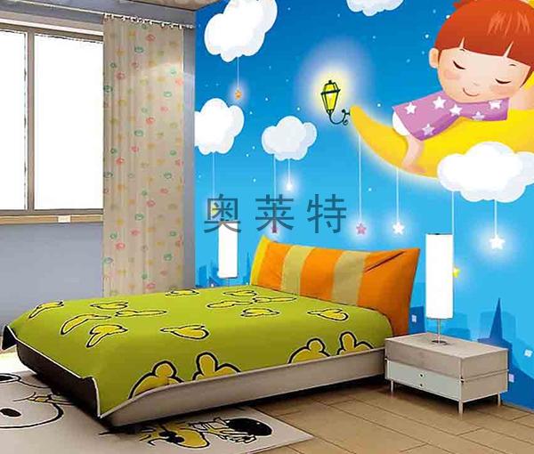 硅藻泥儿童卧室背景墙