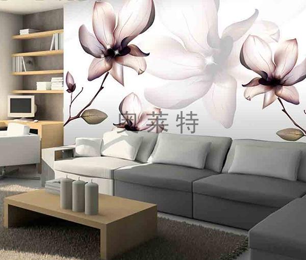 梦幻花卉客厅背景墙