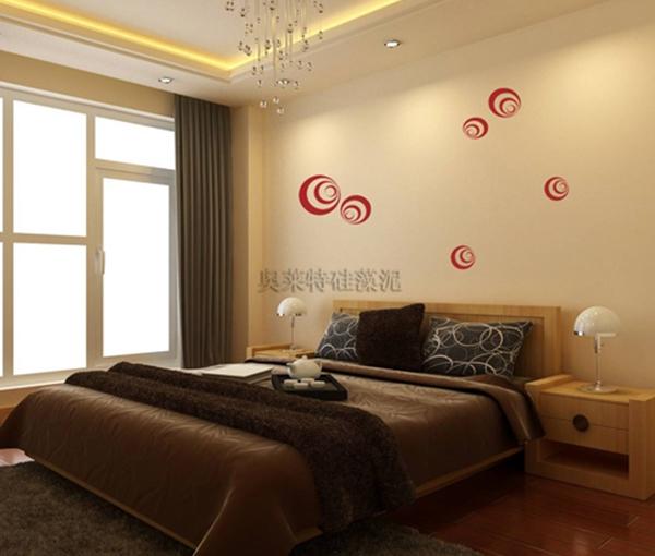 卧室内墙装修水性硅藻泥