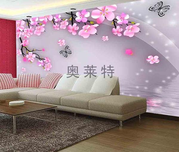 梦幻花卉沙发背景墙